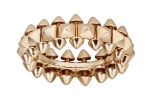 B4229900_Clash de Cartier ring, medium model, pink gold ($4,250)